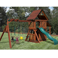wooden swing set 1